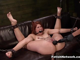 Best pornstars Rose Red, Mila Blaze in Amazing Big Ass, BDSM adult clip